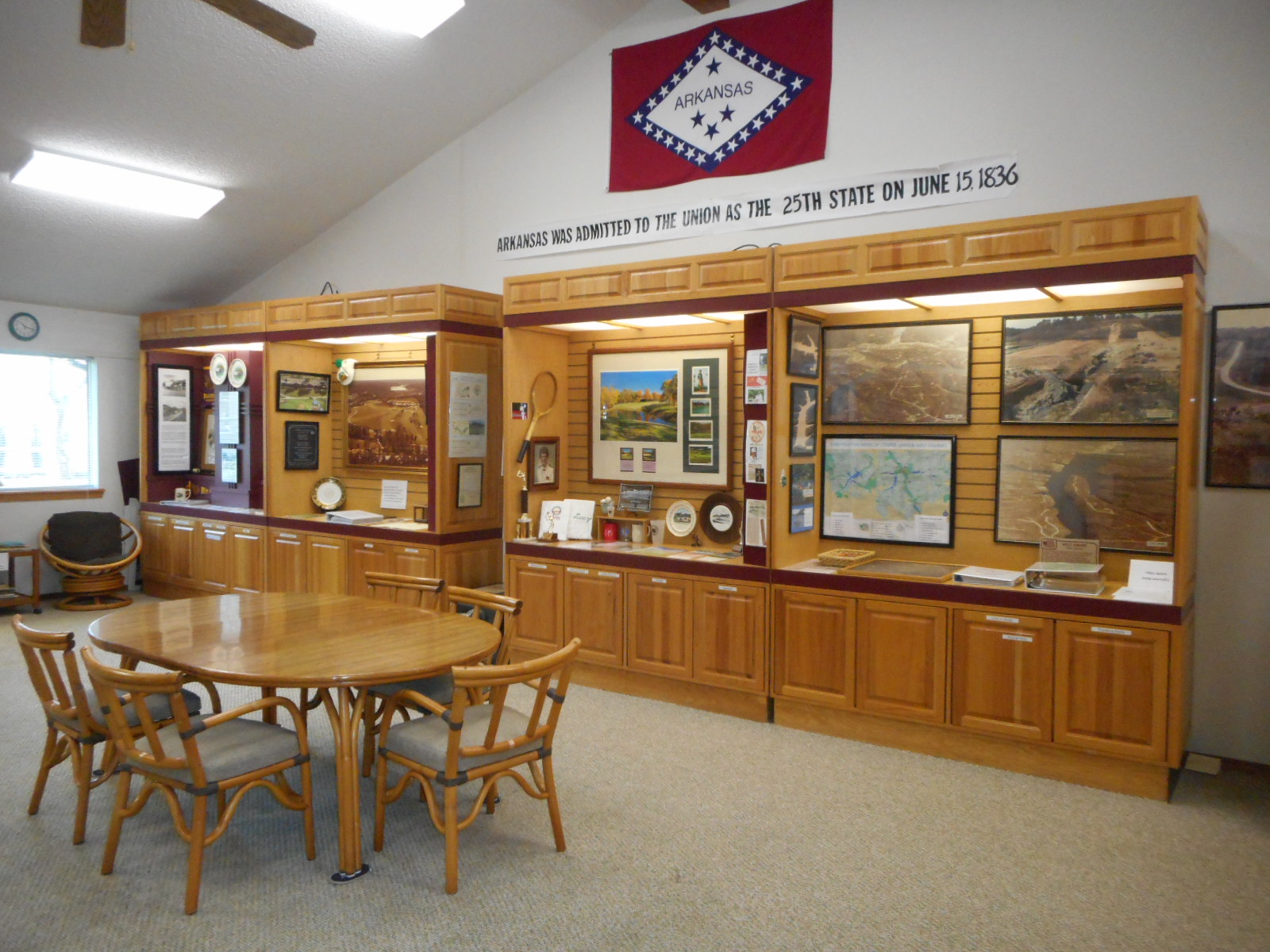 One of the exhibit rooms