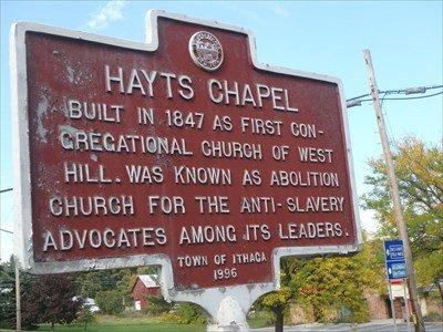 Historic marker at Hayt's Chapel