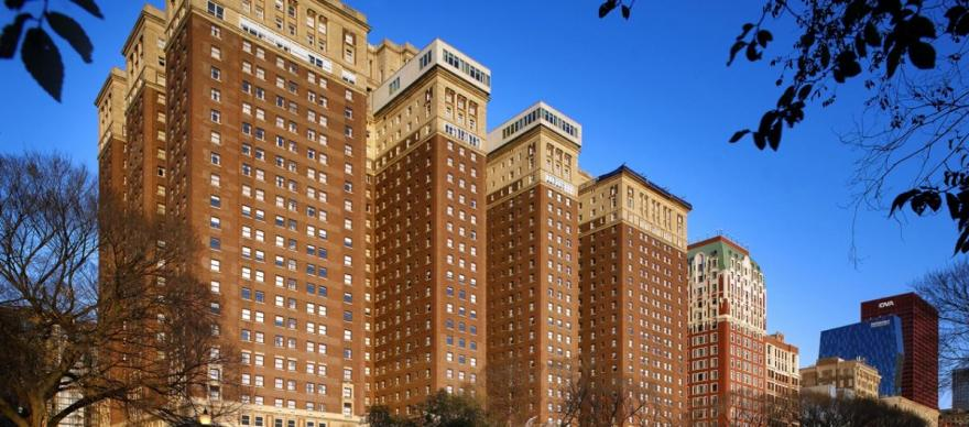 Once the largest hotel in the world, the Chicago Hilton opened in 1927 as the Stevens Hotel.