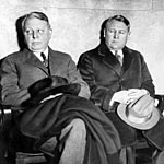 Raymond (left) and Ernest Stevens were the sons of James W. Stevens who made a fortune in insurance and other investments. Raymond committed suicide in 1933 and Ernest was convicted of fraud that year but later acquitted.