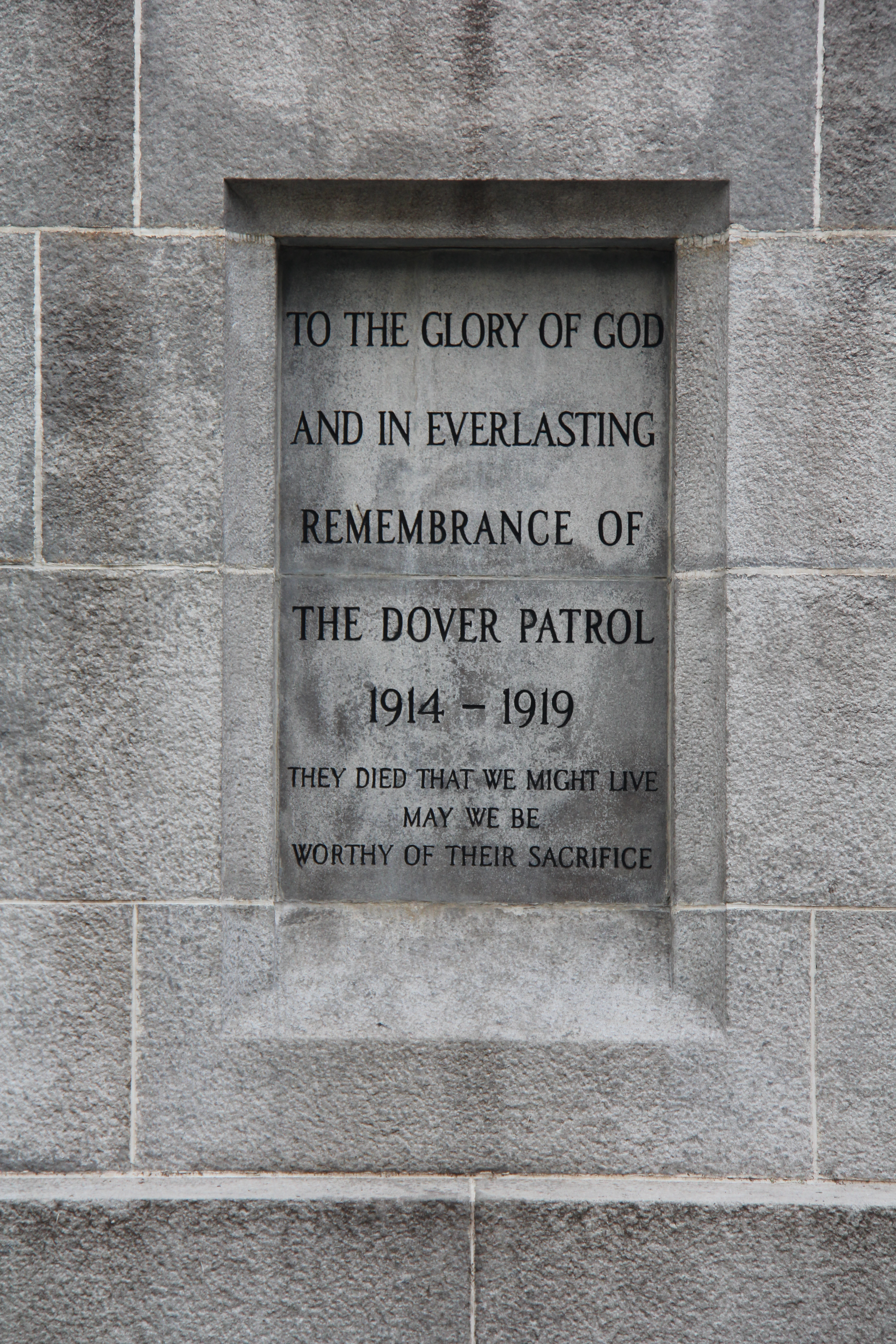 Dover Patrol Monument, South Side