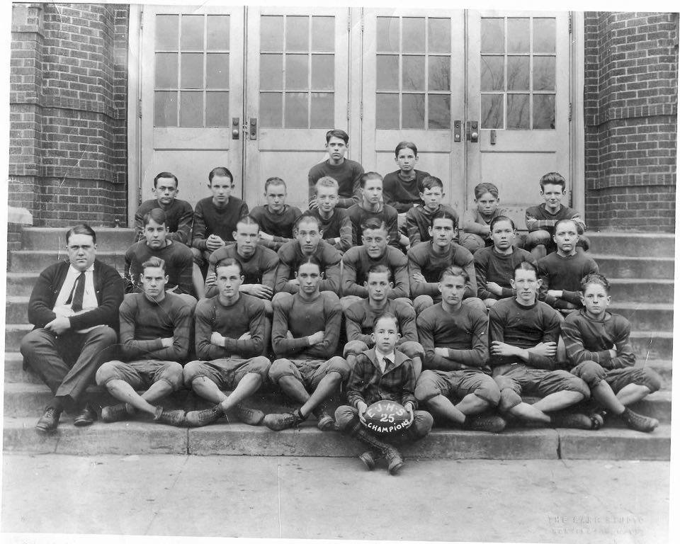 "1925 Enslow Junior High School football champions (from ""The Huntington You Grew Up In"")."