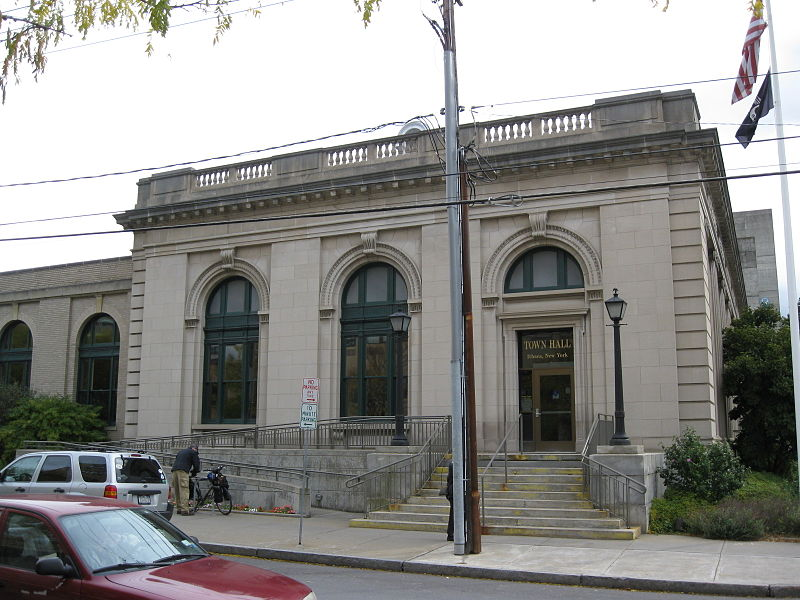 The U.S. Post Office, now Ithaca Town Hall, was built in 1910.