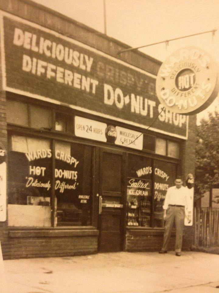 Outside Ward's, circa 1940s