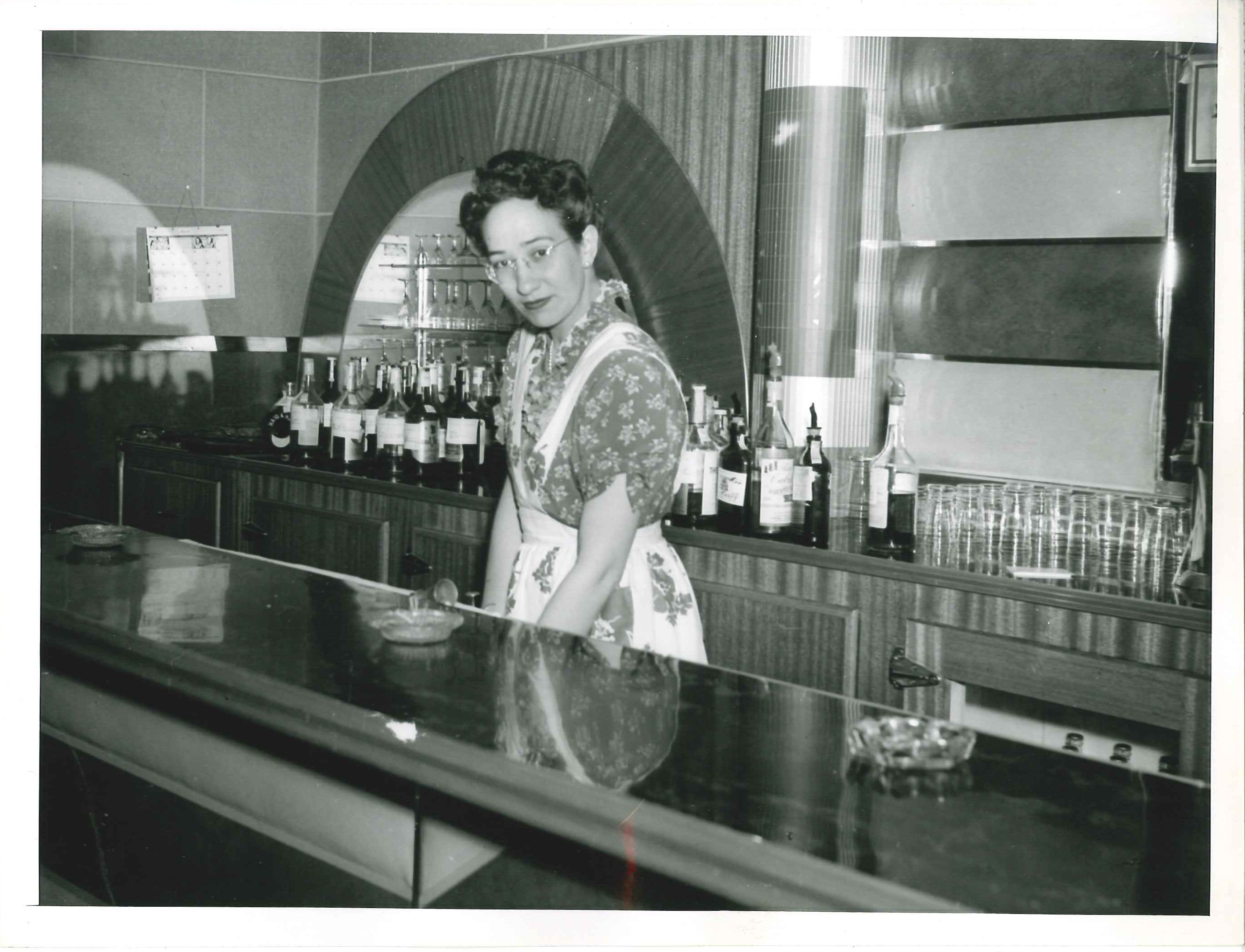 Petre Belaustegui Coscorrosa working at the Chico Club prior to 1950.
