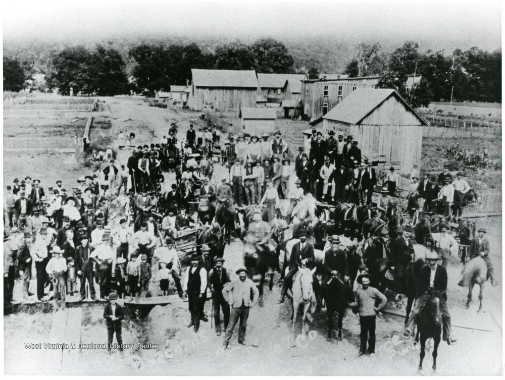 Parsons mob gathered in August 1893.