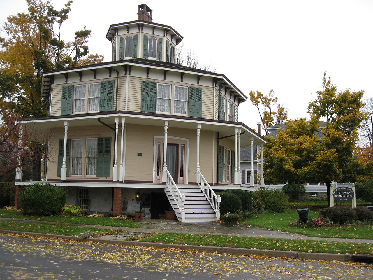 The Rich-Twinn Octagon House was built around 1850 and is the only octagon home in Erie County.