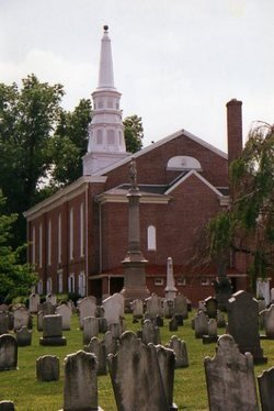 The larger brick church was built in 1852.