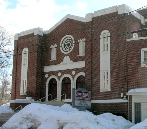 Agudas Achim Synagogue was built in 1928 and is now Glory Chapel International Cathedral.
