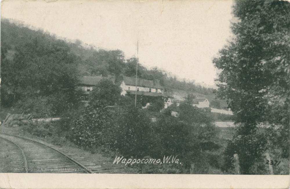 View of Wappocomo from other side of railroad tracks, circa 1916. Photo courtesy of West Virginia On View.