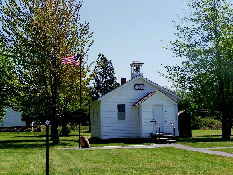 Schoolhouse #8 was built in 1857 and is now a history center and museum.