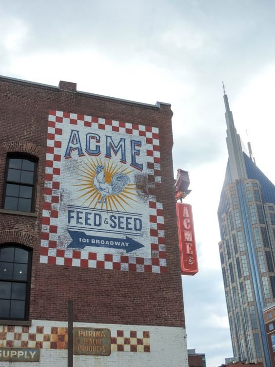 Part of wall of Acme Feed & Seed