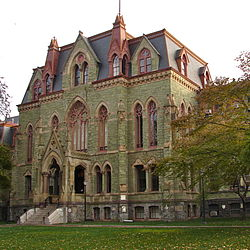 College Hall is the oldest building on the University of Pennsylvania West Campus