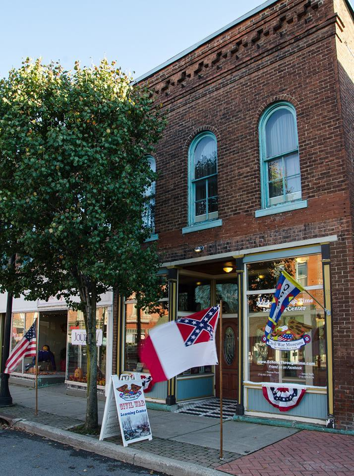 The Echoes Through Time Learning Center & Civil War Museum is located in downtown Springville.