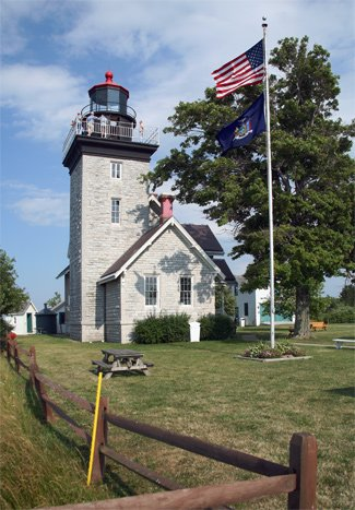 Thirty Mile Point Light was built in 1876 and can be visited from May to October.
