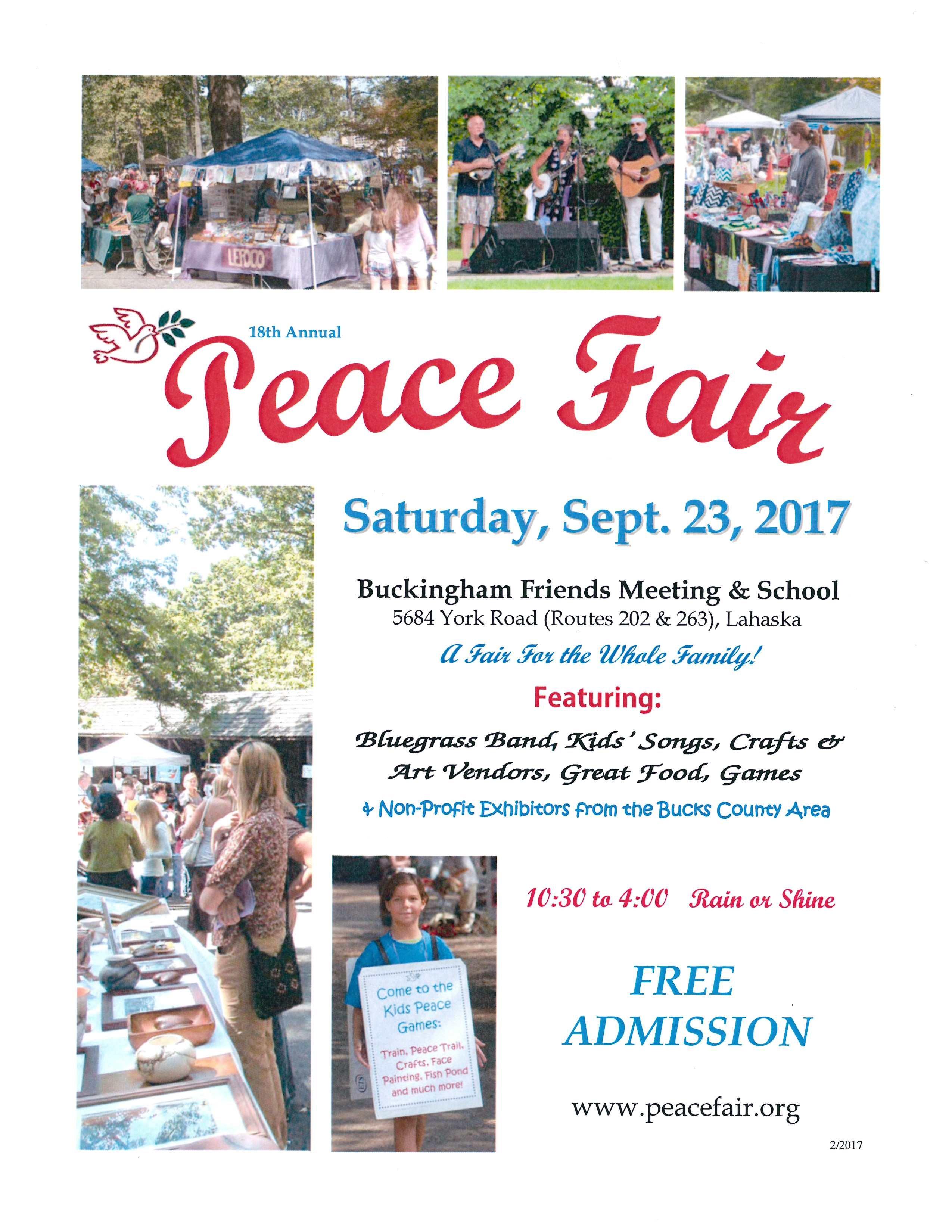 It also hosts an annual Peace Fair.