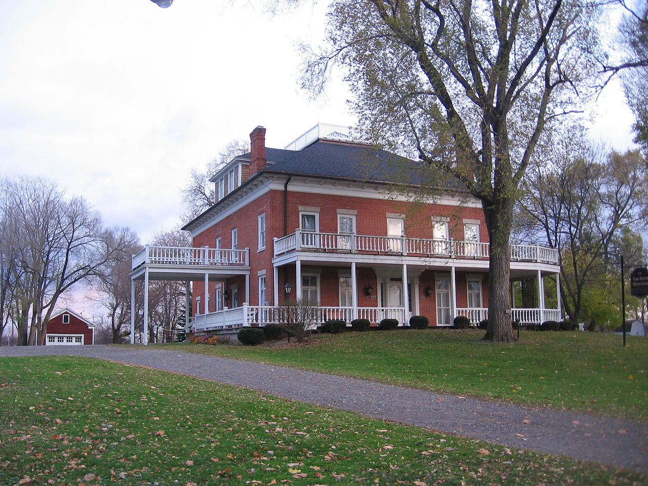 The Van Horn Mansion was built in 1823 and is one of the most important historic buildings in the county.