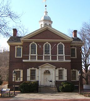 Carpenter's Hall was built between 1770 and 1774 and was the location of the First Continental Congress