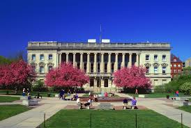 The headquarters building was completed in 1900 and is located on the campus of the University of Wisconsin-Madison.