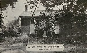 A postcard of the LeMoyne Crematory estimated to be from the 1930s