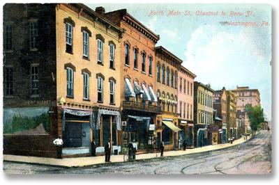 A postcard depicting Main Street from 1907