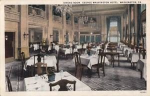Postcard of a ballroom inside the hotel.