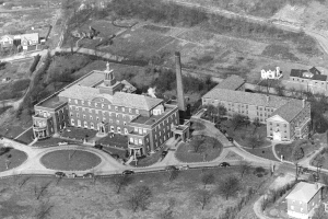 "This shows the addition of the ""A"" wing and the new nurse's residence in 1942."