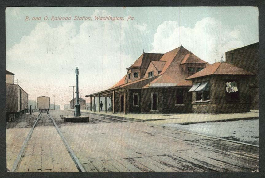 Postcard of B&O Railroad Station.
