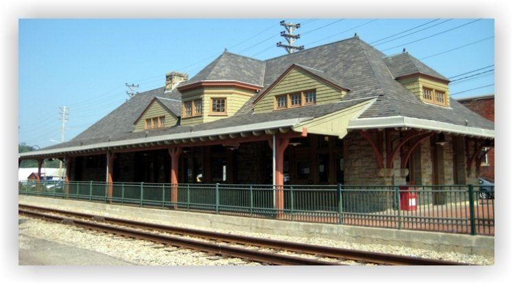 Current Day B&O Railroad Station after renovation. Still in use by the University of Pittsburgh Small business Development.