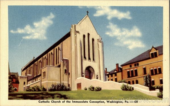 A postcard of the second Immaculate Conception, that opened in 1929.