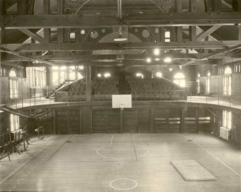 Basketball arena in 1894.