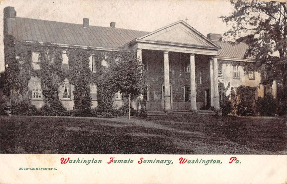Pictured is a postcard dating back to when the Female Seminary was open between the years of 1836 to 1948.