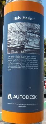 Italy Harbor Historical Marker (front side)