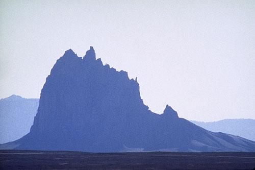 Shadow Profile of Shiprock