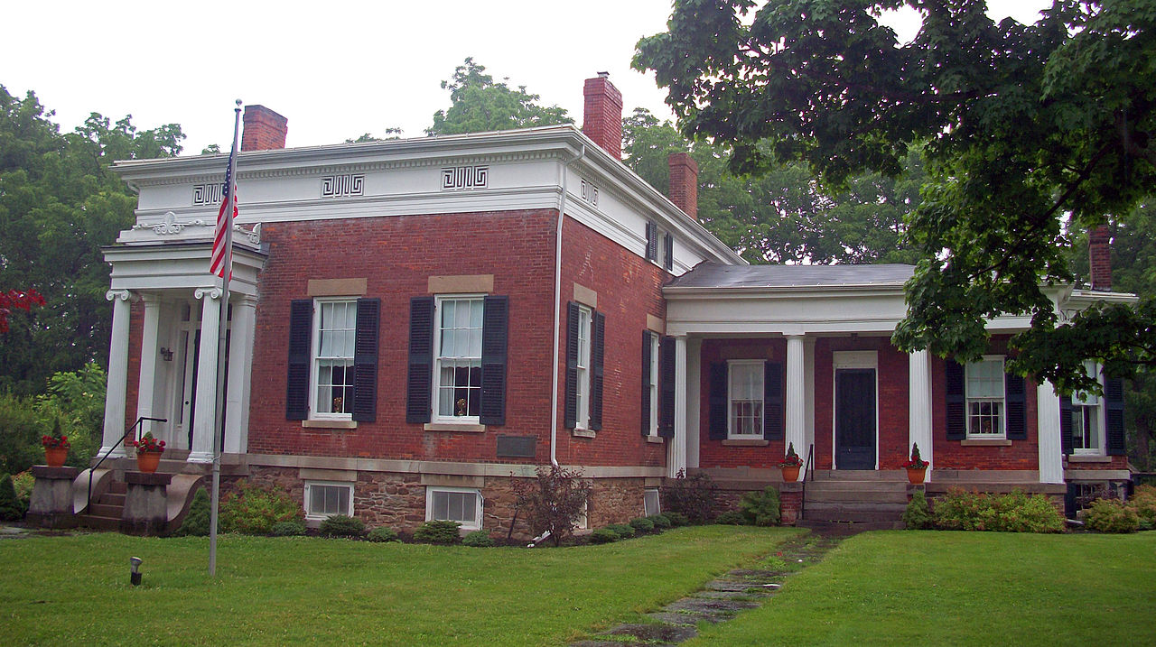 The Tousley-Church House was built around 1840-1845 and was later expanded to its current size.