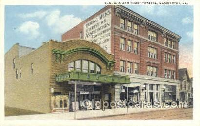 Photo of the Court Theatre and the Y.M.C.A. building.