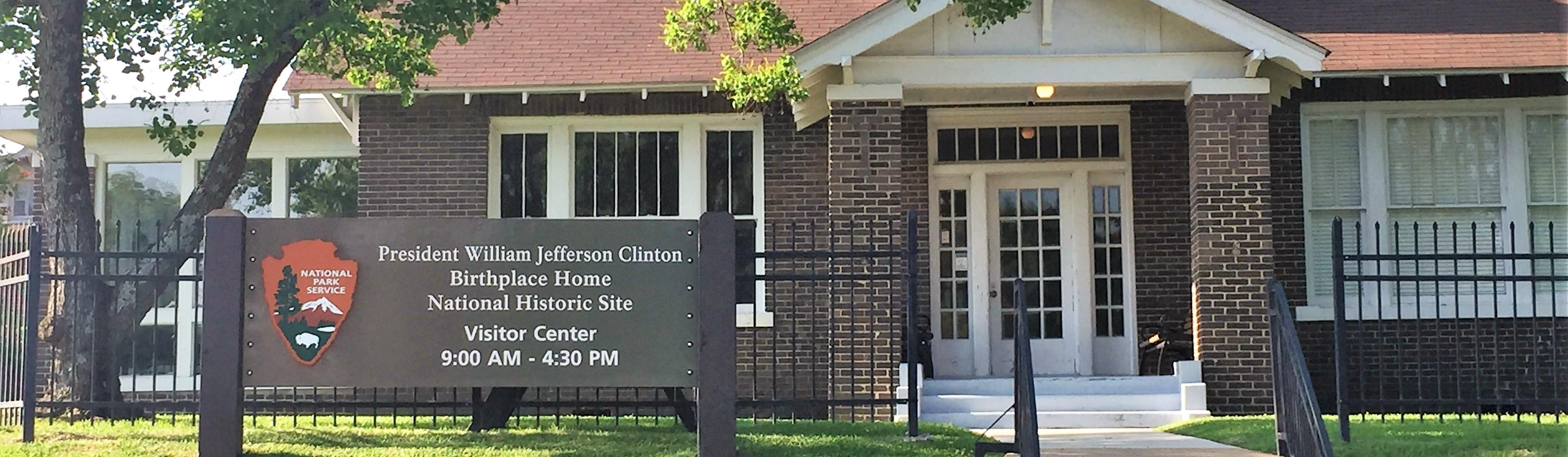 The Visitor Center for the Clinton Birthplace Home NHS