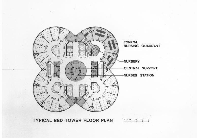 Floor plan of the now-demolished Prentice Women's Hospital