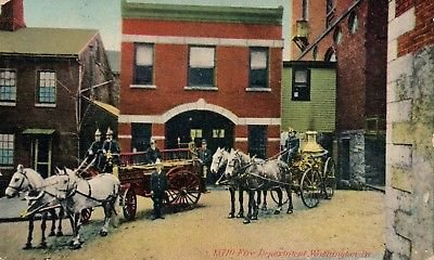 The Washington Borough Fire Department in 1909.