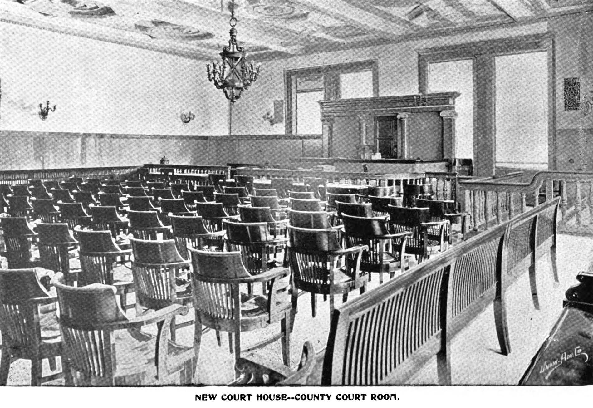 Rochester Courthouse court room (1896)