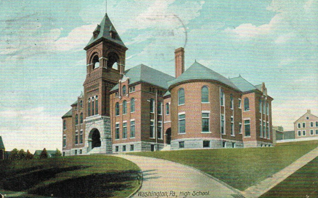 The original Washington High School building was replaced by the current structure in the early 1930s.