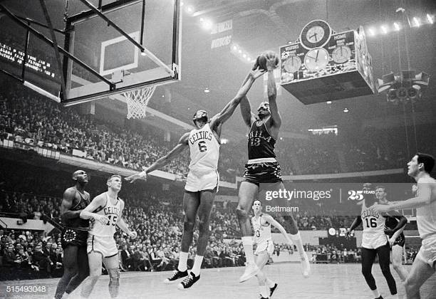 Bill Russell's greatest rival of Wilt Chamberlain, showing how dominant Russell was defensively.