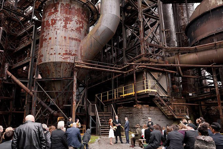 "Carrie Furnace is now a popular site for ""industrial"" weddings."