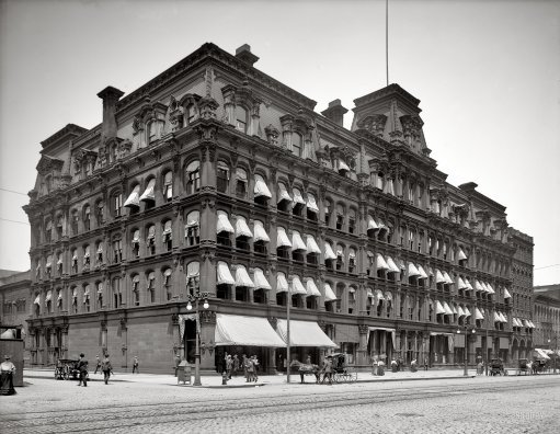 A photo of Cleveland City Hall, where classes were held after Sarah Kimball's home did not provide enough space for the influx of students.