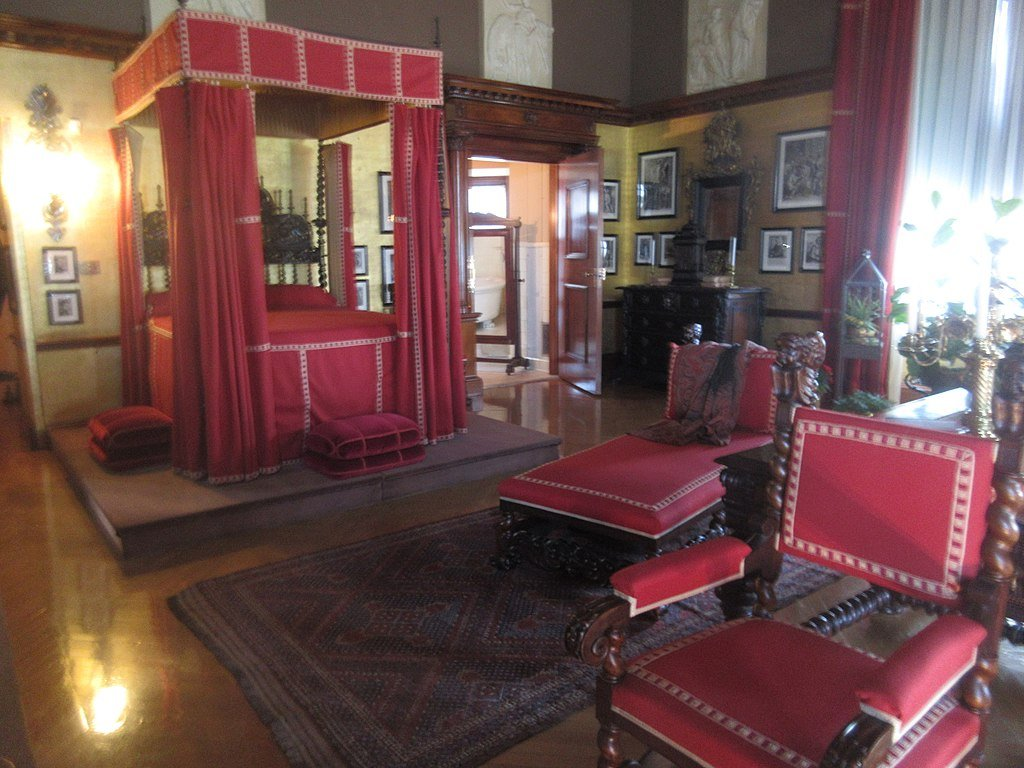Tours of the Biltmore include the grounds and many of the rooms, including George Vanderbilt's master bedroom
