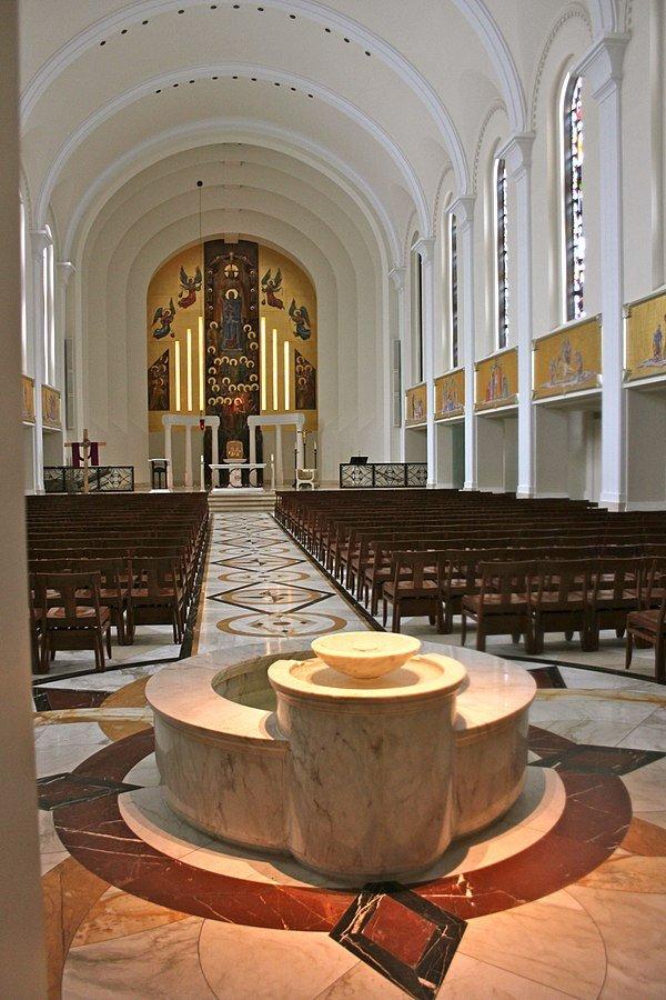 Inside View of Loyola University's Madonna Della Strada Chapel