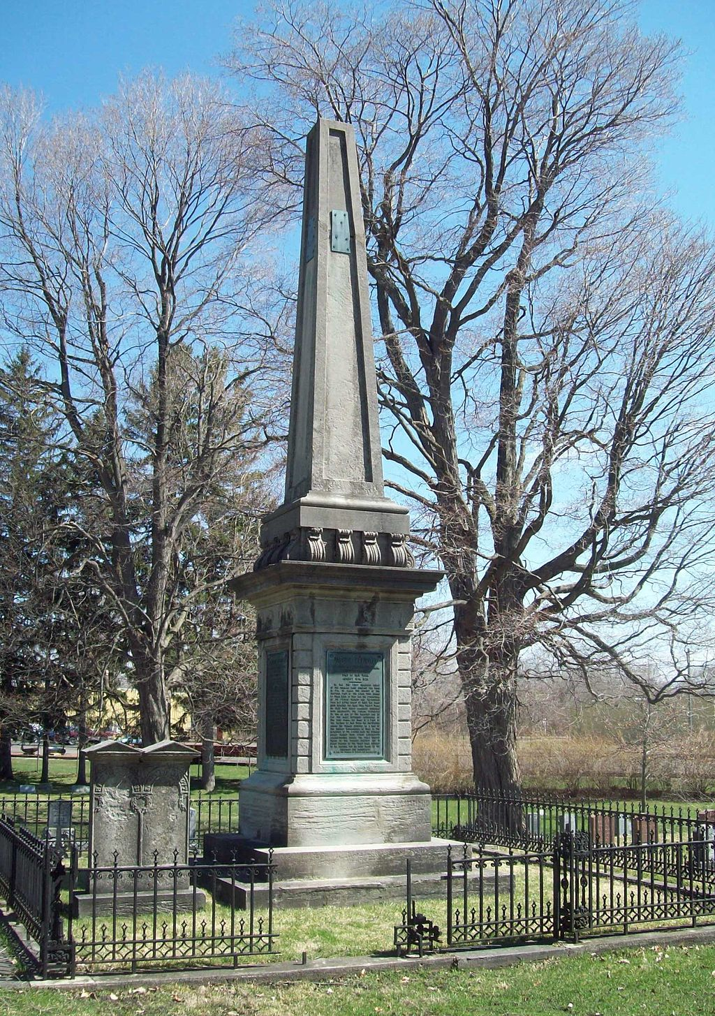 The Joseph Ellicott obelisk