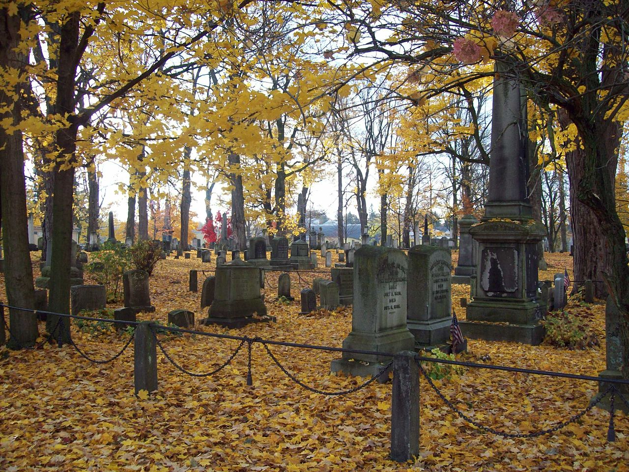 The cemetery contains 8,000 graves.