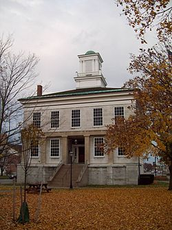 Genesee County Courthouse was built in 1843 and is still by the county government.
