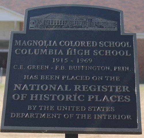 National Register information marker